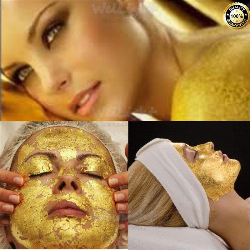 100% מקורי 24 K זהב נגד קמטים מסיכת פנים טיפוח מסכת להדק את העור, הלבנת מסכות פן עבור הרמת פנים מיצוק