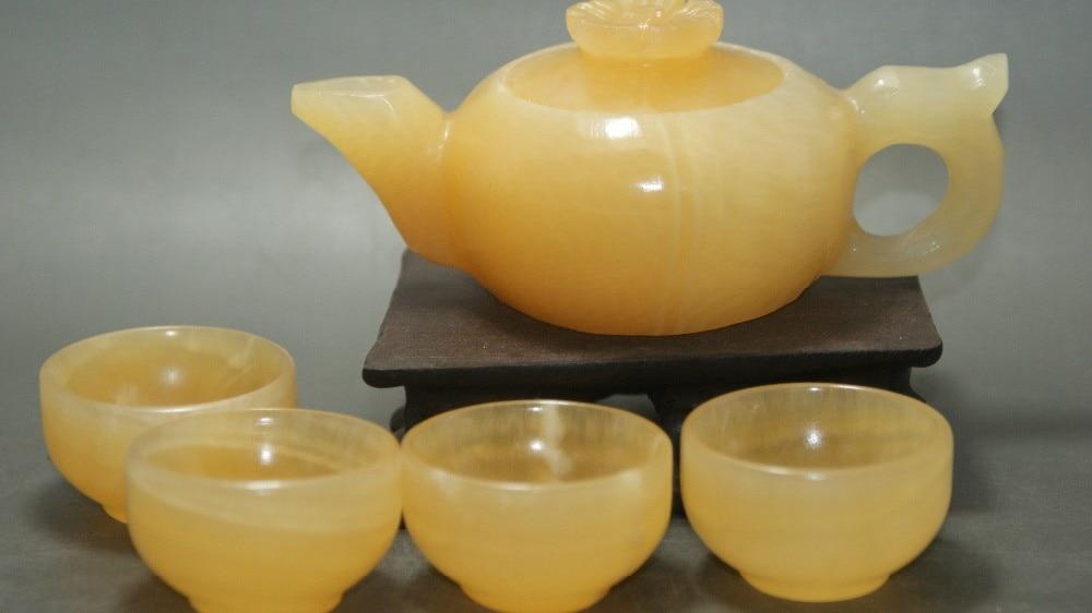 Chinesische jade Kung Fu Tee schalen und Teekanne weihnachtsgeschenk ...
