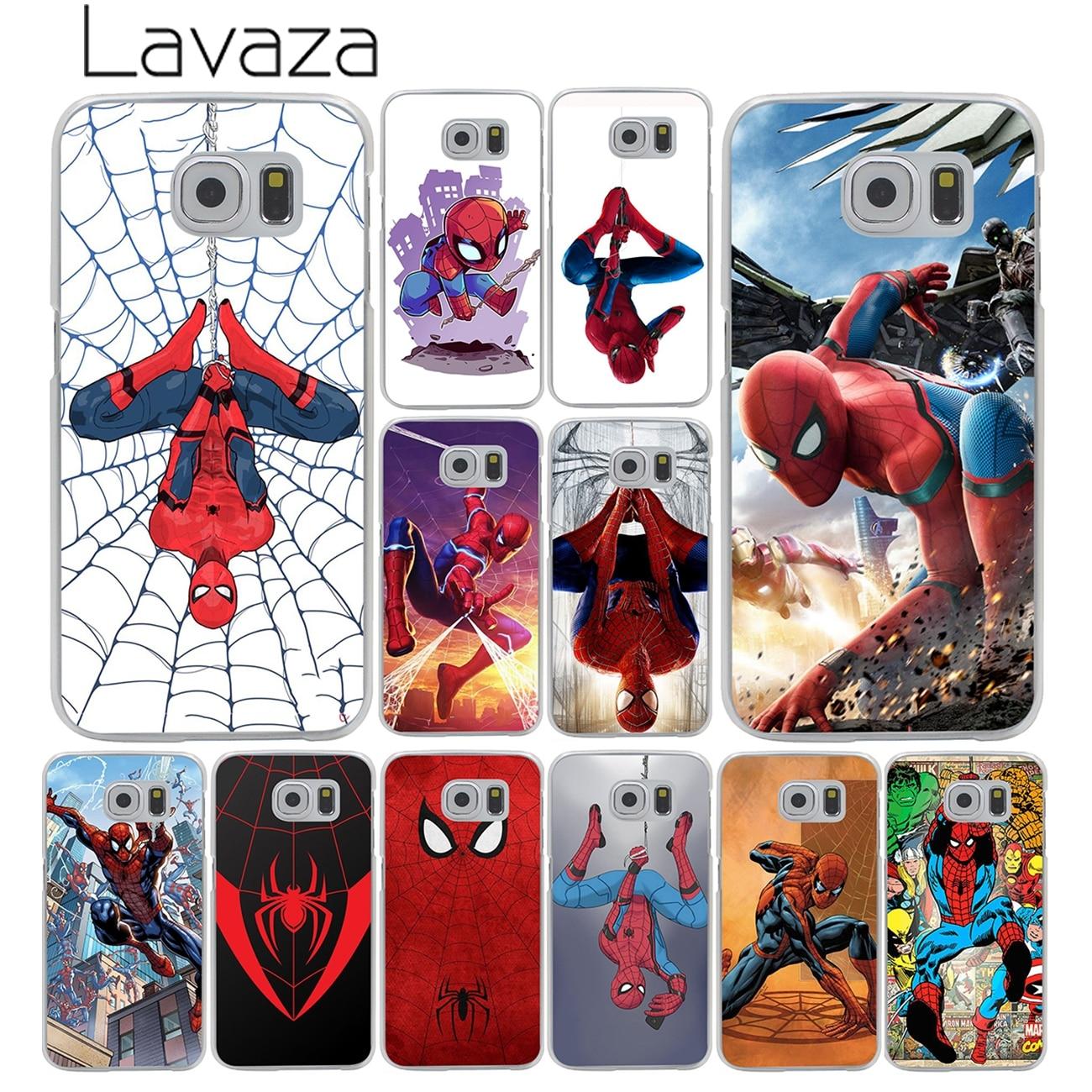 Lavaza Marvel Comics <font><b>Spider</b></font>-<font><b>Man</b></font> <font><b>Spider</b></font> <font><b>Man</b></font> Homecoming Case Cover for <font><b>Samsung</b></font> <font><b>Galaxy</b></font> S8 Plus S3 S4 S5 & <font><b>Mini</b></font> S7 Edge S6 Edge Plus