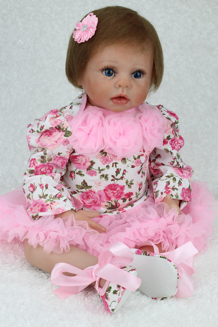 Lifelike Baby Alive Silicone Reborn Babies Doll 22'' Charming Collectible Vinyl Silicone Princess Doll Soft Toys free shipping 18 inches sleeping reborn baby doll handmade soft silicone vinyl baby alive doll lifelike hot toys 100