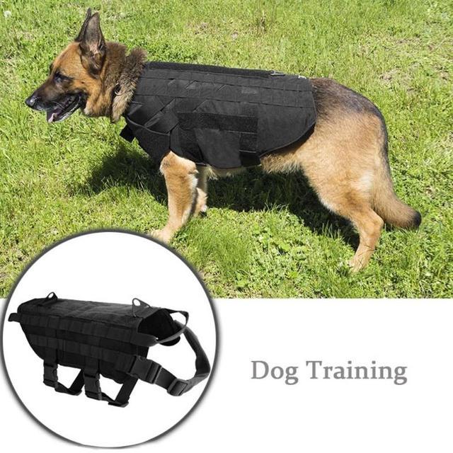Patrol Dog Harness Vest Working Training Tactical Combat Vest ...