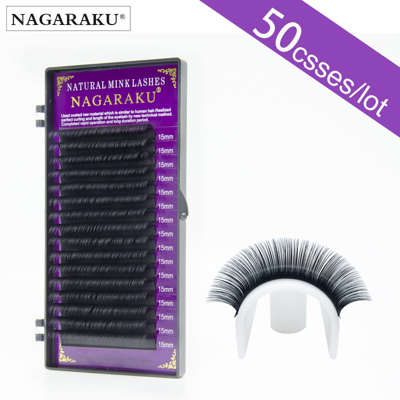 All size 50 cases set High quality mink eyelash extension individual eyelashes natural eyelashes fake false