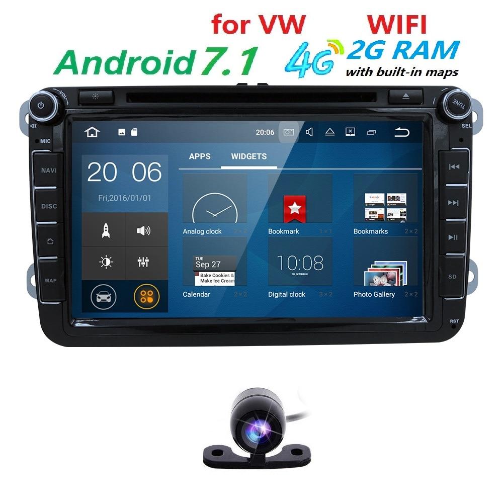 android 7 1 2 din car dvd gps for volkswagen vw skoda. Black Bedroom Furniture Sets. Home Design Ideas