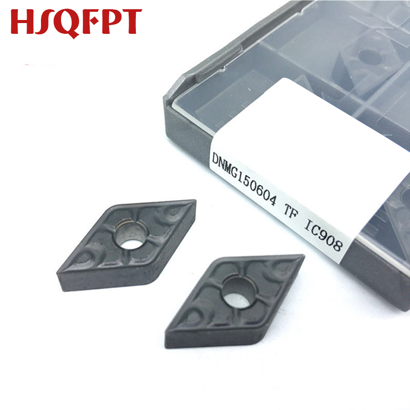 10PCS DNMG150604 DNMG150608 TF IC907/IC908 External Turning Tools Carbide Insert Lathe Cutter Tool Tokarnyy Iscar Turning Insert