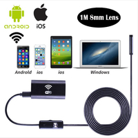 1m 8mm Lens Wireless Wifi Endoscope Camera Android 720P Iphone Borescope Camera Waterproof Endoscopio For Android