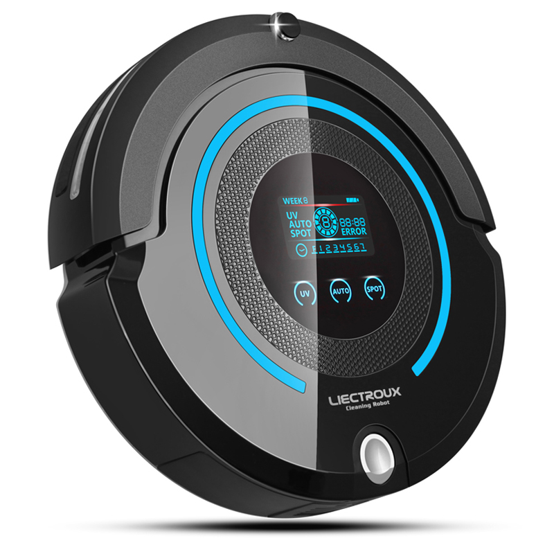 (Russia Warehouse) High-end Multifunction Robot Vacuum Cleaner A338 with mop,Schedule,LCD, Virtual blocker,Self Charge,UV,Remote free to russia robot vacuum cleaner two side brushes led touch screen with tone hepa filter schedule self charge