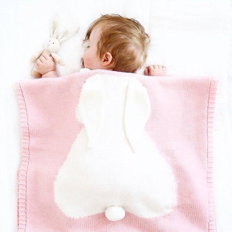 Koc dziecko bawełniane Duże ucho do królika pieluszki noworodka - Pościel - Zdjęcie 4