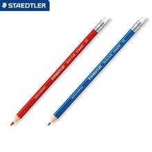 Дешевые STAEDTLER 14450 Цветные карандаши красный/синий стираемую карандаш Дизайн рисовать записи канцелярские принадлежности 12 шт./кор.