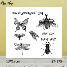 ZhuoAng Butterfly Dragonfly Cicada Clear Stamps For DIY Scrapbooking/Card Making/Album Decorative Silicon Stamp Crafts