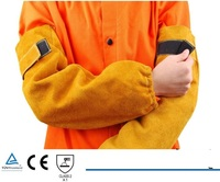 Welding Cowhide Leather Sleeves 19 Welder KEVLAR Stitched 48cm Length CE Golden