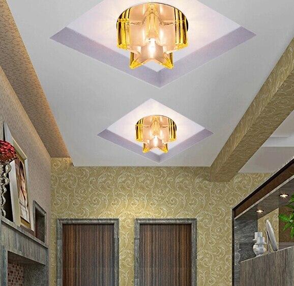 Modern Yang Singkat Dipimpin Kristal Ruang Tamu Pencahayaan Tempat Lampu Balkon Koridor Untuk Chandelier Rumah Abajur