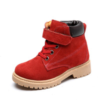 3 Colors New Winter Genuine Children Boots Genuine Leather Boy Girls Boots Fashion Baby Kids