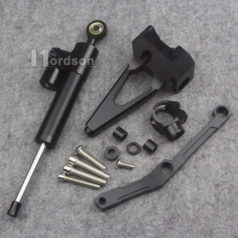 Новый черный мотоцикл рулевой демпфер Стабилизатор с кронштейном для 13-16 Ямаха МТ-09 ФЗ-09 14 15
