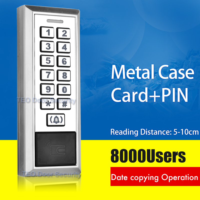 Contact-less Inductive Card Metal Password Access Controller with 8000Users Large Capacity WG26 interface RFID Door Entry System metal rfid em card reader ip68 waterproof metal standalone door lock access control system with keypad 2000 card users capacity