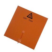 3D phụ kiện máy in 300*300mm 220 V 750 W cao su Silicone nóng giường silica gel sưởi làm nóng đĩa