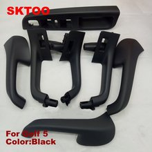 цена на 7pcs for Volkswagen Golf 5 GTI MK5 MK5 Jetta Sagitar HandleTop Interior door quality factory price inner armrest