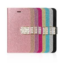 KISSCASE  Glitter Diamond Wallet Cases For iPhone 6 6s 7 8 Plus Cover Simple Luxury Phone Conque