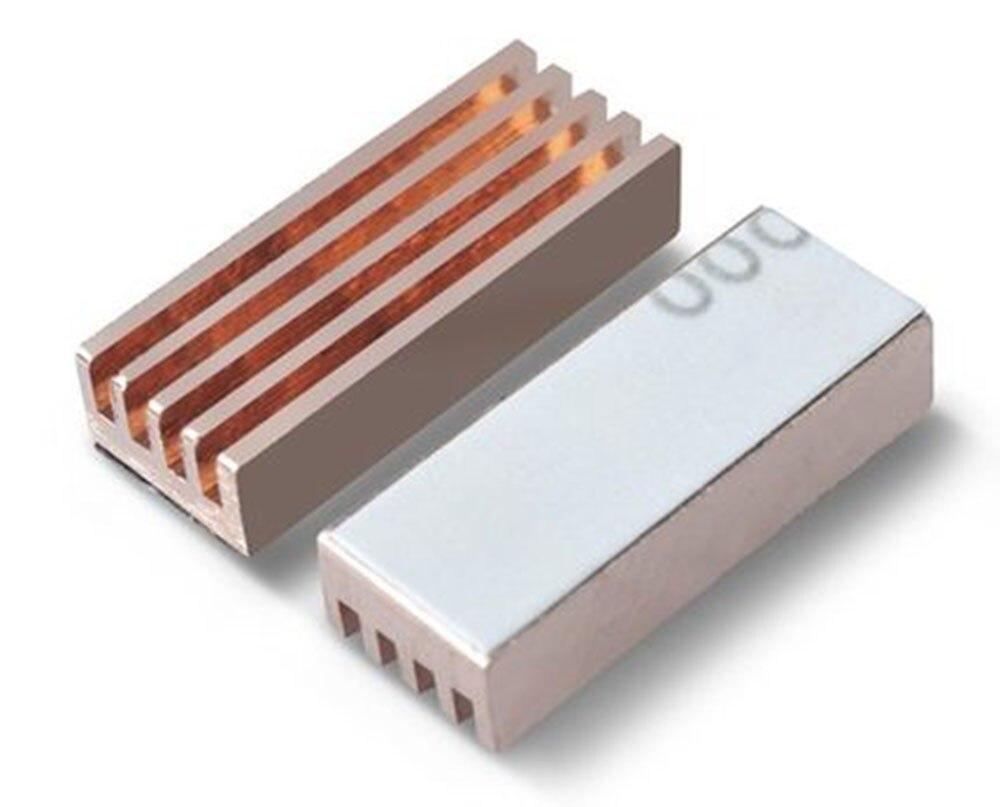 Memory chip Heat Sink 22X8X5mm// Pure Copper Heat Sink//Motherboard Sound Card chip Heat Sink