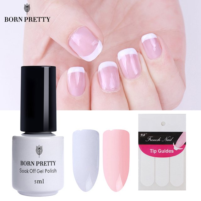 Born pretty nude white color nail gel polish french effect soak born pretty nude white color nail gel polish french effect soak off gel manicure nail art prinsesfo Gallery
