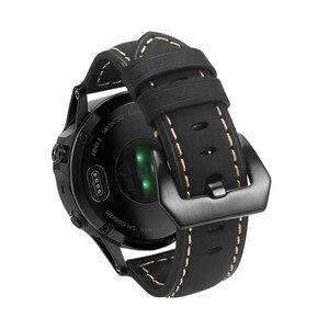 Image 2 - 22 مللي متر حزام جلد طبيعي ساعة ذكية المعصم الفرقة حزام ل Garmin Fenix 5/Fenix 5 Plus/Forerunner 935/Quatix 5 (لا تناسب سريعة)