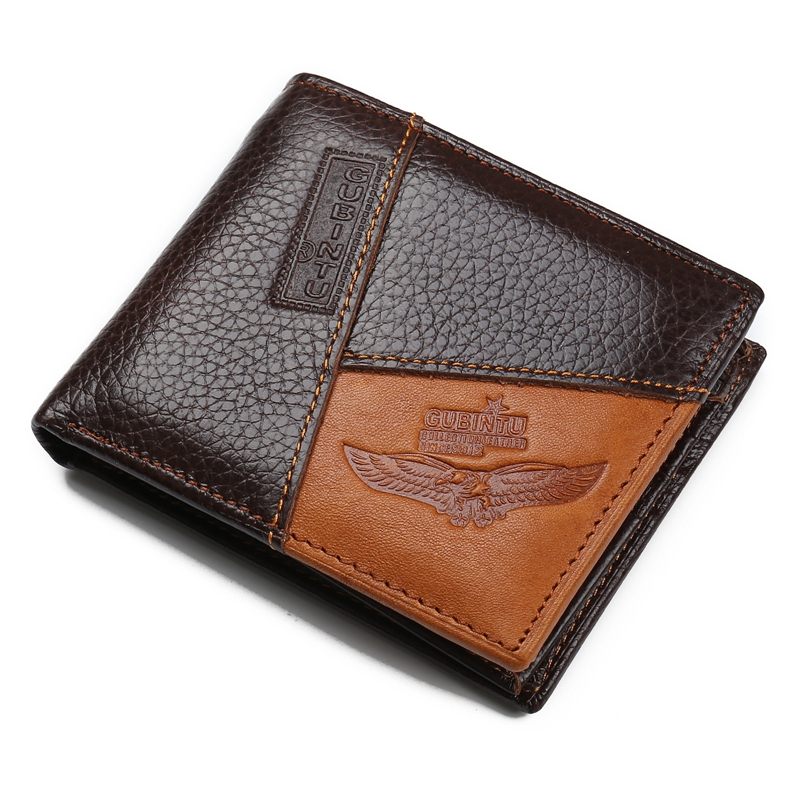 Hanup Brown Coffee Soft Genuine Cowhide Leather Bifold Wallet Men Wallets Coin Purses Credit Card Wallets billetera hombre чехол для для мобильных телефонов oem lg p705 optimus l7 p700 2
