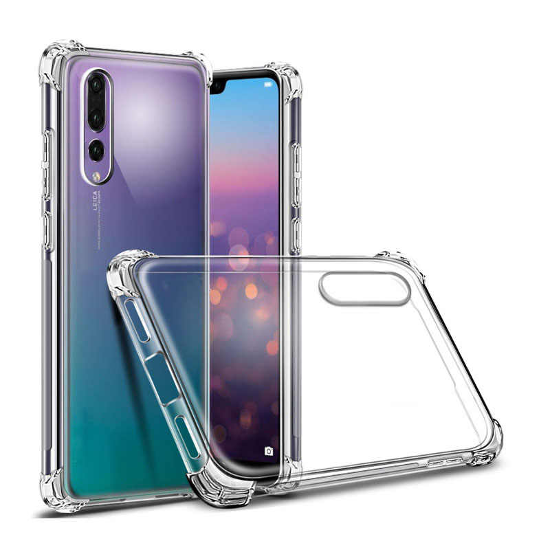 For huawei P20 Pro Matte Colorful Clear Transparent Soft Silicone TPU Case For Huawei P20 Lite UltraThin Protective Cover