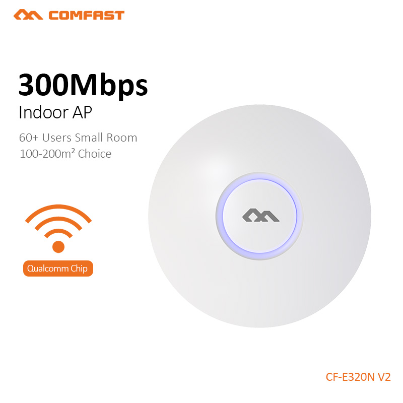 wifi router 300Mbps 2.4Ghz business use marketing system AP openWRT Wireless ceiling AP wireless indoor AP COMFAST CF-E320N-V2 comfast cf e325n ceiling ap 300mbps wifi router wireless repeater