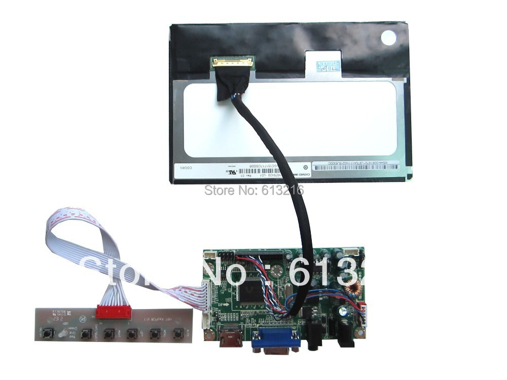 HDMI+ VGA+Audio  of LCD driver board  +7 inch LCD panel 1280*800 +LVDS cable+OSD keypad with cable hdmi vga 2av lcd driver board vs ty2662 v1 71280 800 n070icg ld1 ld4 touch panel