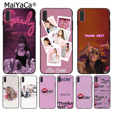 MaiYaCa Thank U, Next Ariana Grand TPU black Phone Case Cover Shell for Apple iPhone 8 7 6 6S Plus X XS MAX 5 5S SE XR Cover Pakistan