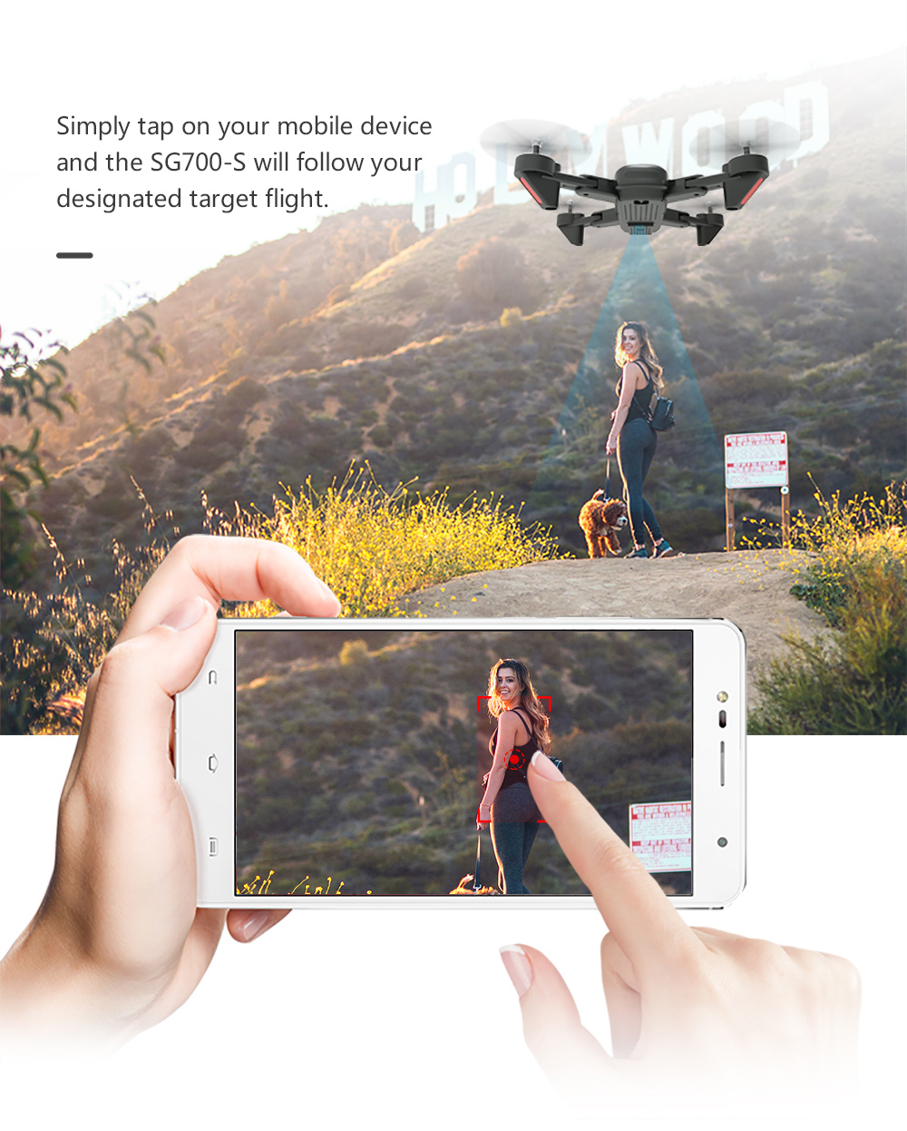 RC Helicopter With HD Camera Wide Angle Selfie Drone Palm Control Quadcopter With WiFi Camera SG700 Upgraded Version SG700s Dron 4
