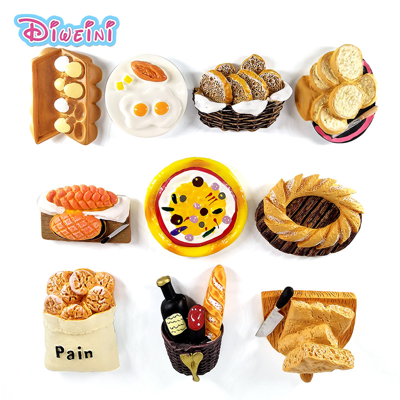 Artificial Breakfast Bread Egg Pizza Figurine Pretend Play Simulation Food Kitchen Toy Dollhouse DIY Accessories Gift Baby Gift