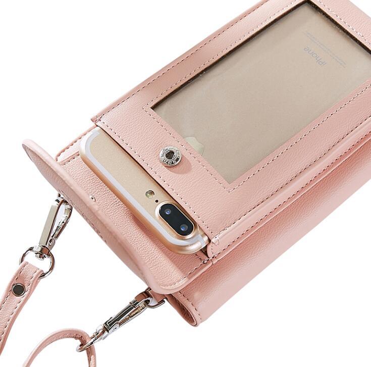 Shoulder Belt Touch Screen Mobile Phone PU Case For Nokia 5 Oukitel K6000 Pro U7 Pro