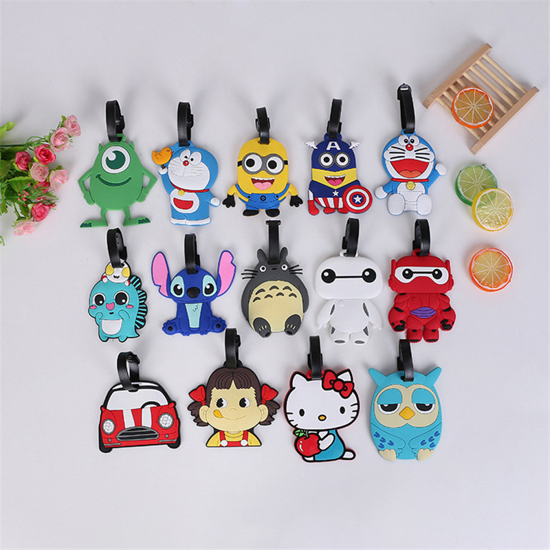 Luggage-Tag Travel-Accessories Name-Labels Cactus Silicon Cute Portable Cartoon Lt22a