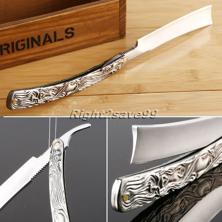 2017 Shave Knife Folding Knife New Straight Edge Stainless Steel Shaper Barber Razor Folding Shaving Knife Aluminum Alloy Handle high quality green sandalwood handle vintage barber razor stainless handmade straight razor folding shaving knife shaving razor