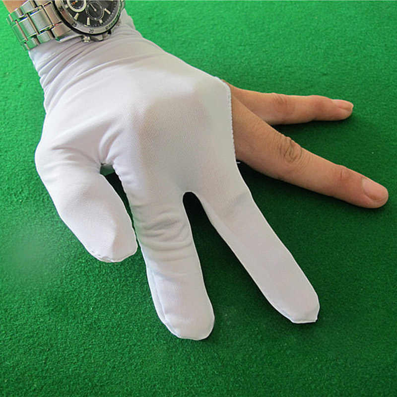 Billiard Three Finger Gloves High Elasticity Thin Cue Snooker Durable Unisex Accessory YA88