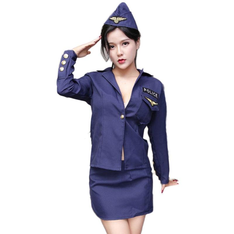 Buy sexy Police Costumes fantasy Cosplay Women copper Uniform Temptation Porn erotic Outfit Adult fetish Suit set Lingerie dress