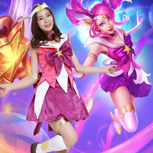 Аниме LOL Леди светимости Lux Костюмы для косплея Сейлор Мун/Puella волхвов Мадока Magica карнавальные костюмы платье