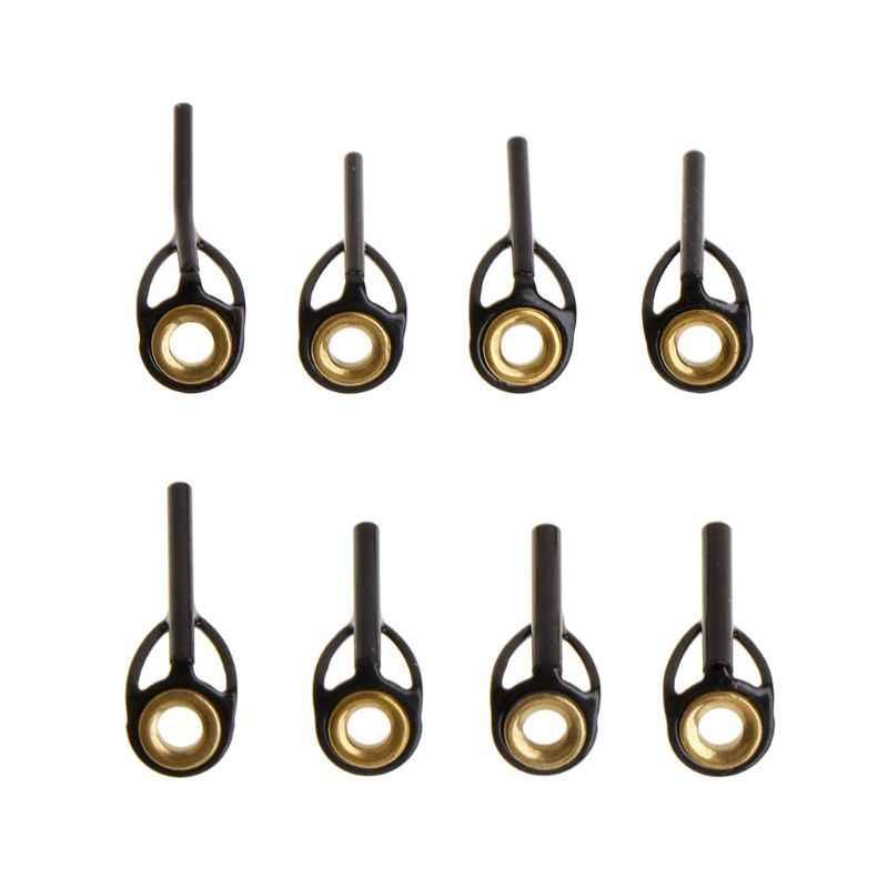 Barra superior de pesca, punta de la línea del anillo guía, 0,9mm-1,6mm, anillos de acero inoxidable DIY, Kit de reparación de postes, accesorios de repuesto