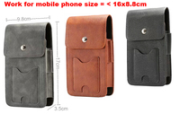 Holster Belt Clip Mobile Phone Leather Case Dual Pouch For IPhone 8 Plus Doogee X5 MAX