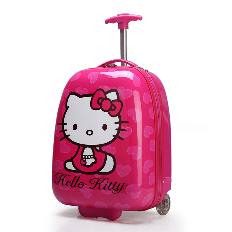 Online Shop Newest Hello kitty trolley luggage cute cartoon wheel ...