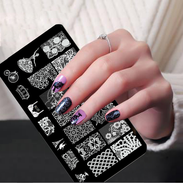 Laced All Series Metal Nail Art Stamping Image Konad Plate Print