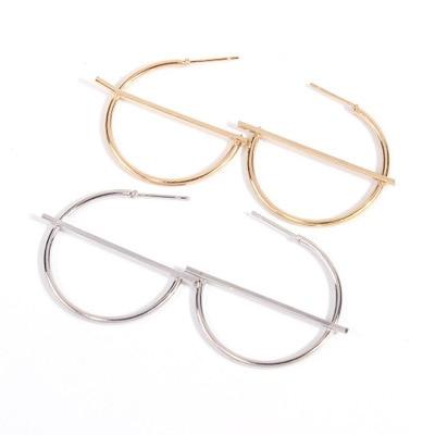 Купить женские новые модные большие круглые серьги кольца металлические
