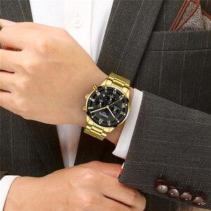 Image 5 - NIBOSI reloj deportivo para hombre, de cuarzo, resistente al agua, de negocios, de acero, Masculino