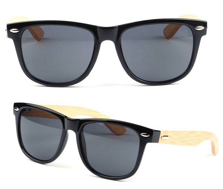 5f8ce36886 Stylish Bamboo Temple UV 400 Protection Sunglasses Black + Wood on  Aliexpress.com