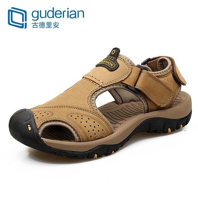 GUDERIAN Degli Uomini di Estate Sandali Comodi Mens Del Cuoio Genuino Sandali Mannen Schoenen Mens Calzature Sandali Sandalias Para Hombre