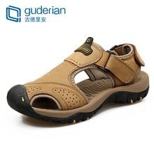 cf7886d8bc5 GUDERIAN Men Summer Sandals Comfortable Mens Genuine Leather Sandals Mannen  Schoenen Mens Footwear Sandals Sandalias Para
