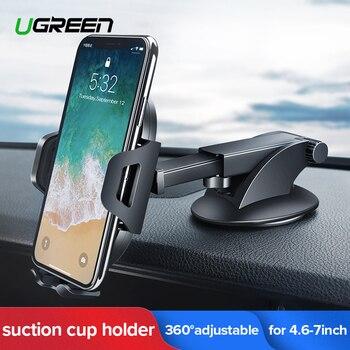Soporte para teléfono de coche Ugreen sin soporte de gravedad magnética en el soporte de la ventosa del coche para tu teléfono móvil Xiaomi iPhone XR
