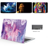 6c966ba38451f 2in1 New Marble Pattern Laptop Case Keyboard Cover For 11 12 13 15 Inch  Apple Macbook