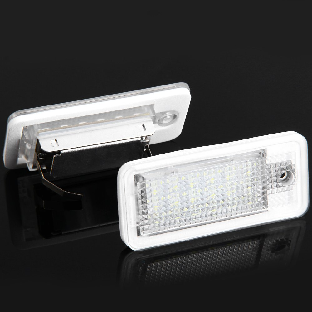 Auto Vehicle Lamp 18 LEDs Number Light Cool White Lamp Audi A3 A4 8E S6 RS4 A6 RS6 A8 D3 - 2pcs 2pcs truck light 4 leds lamp