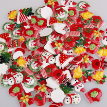 Shoes Snowman Lucky-Bag Cabochon Christmas-Tree Mix-Designs Resin Flatback Beauty Cartoon